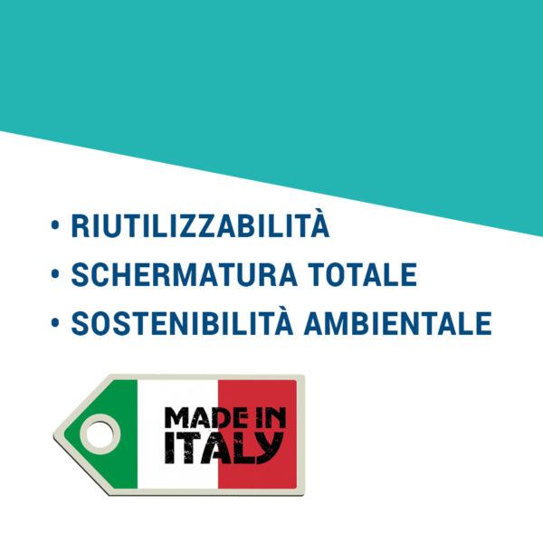 Mascherine Italiane - Mascherine italiane impermeabili lavabili e riutilizzabili - made in Abruzzo! https://www.mascherineitaliane.it - Baldo Promotion - https://www.baldopromotion.it - Riutilizzabilità, schermatura totale, sostenibilità ambientale